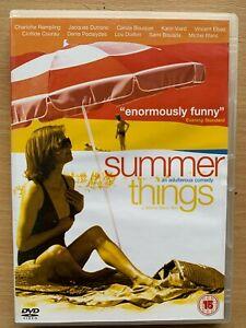 Summer Things UK DVD 2002 Erotic French Drama Movie starring Charlotte Rampling