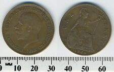 GREAT BRITAIN 1928 - 1 Penny  Large Coin - King George V
