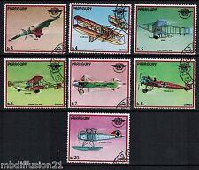 1979 - PARAGUAY - SERIE 7x TIMBRES - OBL - AVIATION- ADER-FARMAN-FOKKER - STAMP