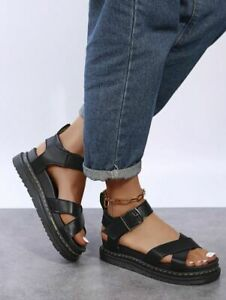 Womens Chunky Sandals Ladies Summer Thick Sole Strap Block Flatform Shoes Size