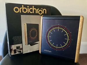 Vintage 80's 1982 Orbichron Electronic Clock - Rare