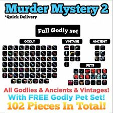 Murder Mystery 2 Godly Set - MM2 Every Godly, Vintage, Ancient + Pets (Roblox)