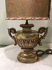 Lovely Antique Vintage Carved Gilt Wood Urn Table Lamp