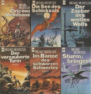 MICHAEL MOORCOCK - ELRIC von Melnibone 1 - 6 ; ERSTAUFLAGE,Heyne 79/80; TOP