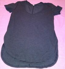 Lululemon Yogini 5 Year Short Sleeve Shirt Dark Gray  Sz 4-6?