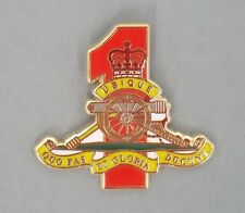1ST FIELD REGIMENT RAA GOLD & ENAMEL LAPEL BADGE 25MM HIGH WITH 1 PIN