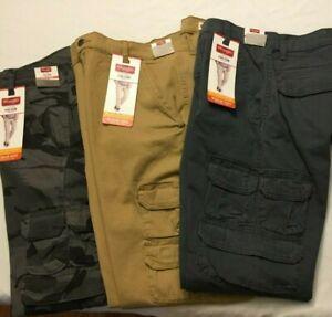 NWT NEW MEN'S Wrangler Cargo TAPER LEG FIT Regular Pant Stretch Flex 8 Pocket
