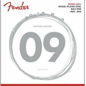 Fender Electric Guitar Strings, Nickel Plated Steel Strings, Ball End, .009-.046