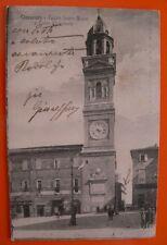 Cartolina MACERATA - TEATRO LAURO ROSSI E TORRE COMUNALE (VIAGGIATA 1929)   2/17