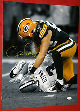 CLAY MATTHEWS GREEN BAY PACKERS AUTOGRAPHED 16X20 COLOR FILTERED SEPIA PHOTO JSA