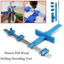 Drill Guide Sleeve Cabinet Hardware Jig Drawer Pull  Wood Drilling Dowelling_S