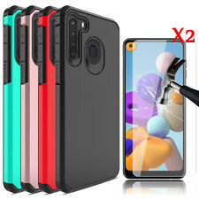 For Samsung Galaxy A20/A21/A11 Case Shockproof Phone Cover/2XScreen Protector
