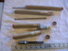 """2 Specialty Drill Bits 7 1/4"""" Long each with a guide fitting Heavy Steel Nice"""