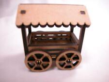 "Dollhouse Miniature 1/6"" Scale Flower Fruit Cart Laser Cut  #Z281 CLOSING"