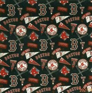 Bandanna for Boston Red Sox  Baseball on Black 100% Cotton #446 Handmade