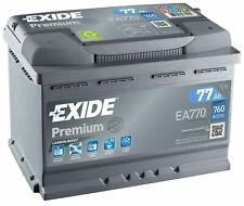 Exide Autobatterie 77AH 12V Premium Carbon Boost EA770 ersetzt 72Ah 74Ah 80Ah