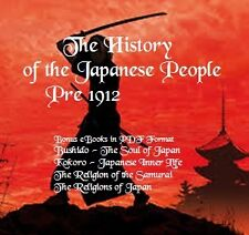 CD- Early Japanese History Collection - Pre 1912 - 5 eBooks (Resell Rights)