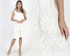 Vintage 50s White Lace Dress Neiman Marcus Wedding Cocktail Party Pinup Mini