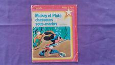 Ancien Livre Hachette « Mickey Et Pluto Chasseurs Sous-marins» 1980 Bon Etat