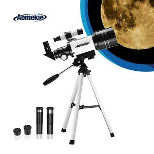 140X Astronomy Telescope 70mm Lens Tripod for Moon Watching Kids Beginners Gift