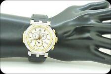 Men's Authentic Techo JPM Model 778 Diamond Chronograph Watch Leather #21968