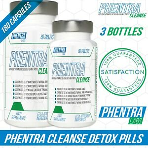 3 x Phentra Labs Cleanse Colon Liver Detox Constipation Anti Bloat Weight Loss