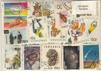 100 verschiedene Briefmarken aus Tansania
