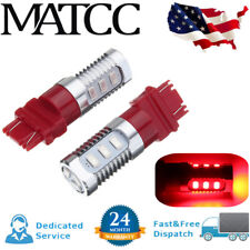 2PCS Red 3157 LED Flashing Strobe Blinking Rear Brake Tail Stop Lights Bulbs US