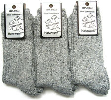 3 Pair Norwegian Socks 100% Wool Walking Socks Without Rubber Grey 39 To 50