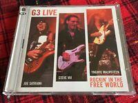 G3 Live Joe Satriani Steve Vai Yngwie Malmsteen 2 CD Rockin ' In The Free World