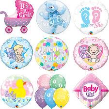 Qualatex Baby Shower - Nuevo Niño Bebé/Niña Látex & Foil Globos Fiesta Welcome (