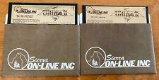 "1982 Sierra On-Line Inc Ultima Ii 5.25"" Floppy Disk Apple Ii Computer Game"