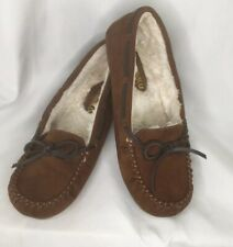 Makalu  Moccasins Brown Shoes Faux fur lined  Womens sz 7 Preowned