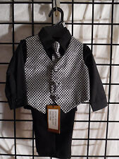 4PC. TODDLER BOYS SUIT SIZE 6/9 MONTH