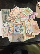 Lot of 5 Different Foreign Paper Money Banknotes World Currency