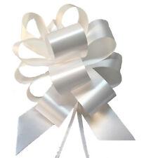 100 coccarde bianche Diam. 12 cm autotiranti Matrimonio Auto Casa sposi Fiocco