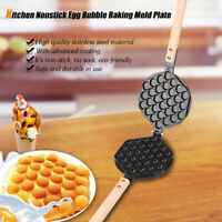 Stainless Steel Egg Bubble Baking Mold Plate Waffle Maker Pan with Fixed Bracket