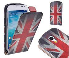 Schutzhülle f Samsung Galaxy S4 mini i9190 Kunstleder Flip Tasche England Flagge