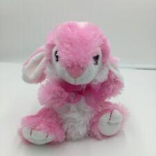 "Dan Dee Pink White Bunny Rabbit Plush Soft Toy Stuffed 2016 7"" Easter"
