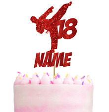 Personalised Kickboxing Karate Themed Cake Topper Decoration Any name/age/colour