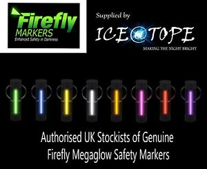 GENUINE FIREFLY MEGAGLOW SAFETY MARKER ISOTOPES KEYRING ICEATOPE Nite Glowring