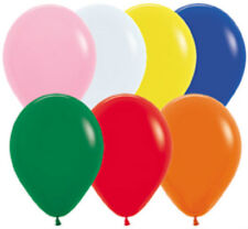 12 Assorted Latex Balloons Helium Grade 11""