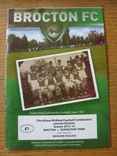 21/08/2012 Brocton v Atherstone Town   (Item has no apparent faults).