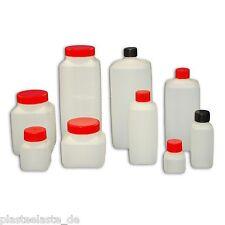 Leerflasche Flaschen Enghals Plastik PE Weithals Kunststoff Vierkant mit Deckel