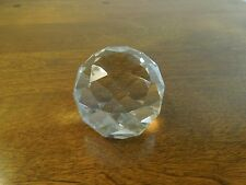 Crystal Glass Faceted Sphere Decorative Paperweight Ball