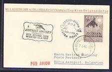 43017) AUA FF Wien - (Belgrad) - Sofia 6.4.59 Karte ab Belgien