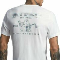 True Religion Men's Sz 3XL Holographic World Tour Silver Puff Tee T-Shirt White
