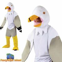 SEAGULL BIG HEAD MASCOT WITH WINGS ladies adults mens fancy dress costume