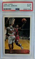 1996 96 Topps Michael Jordan #139, Chicago Bulls, HOF, Graded PSA 9