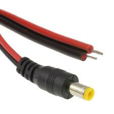 Dc Tressé Prise Alimentation 5.5 x 2.1mm Pour Brut Extrémités CCTV Câble 0.3m